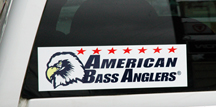 "ABA 14"" Boat/Truck Logo Decal white backing"